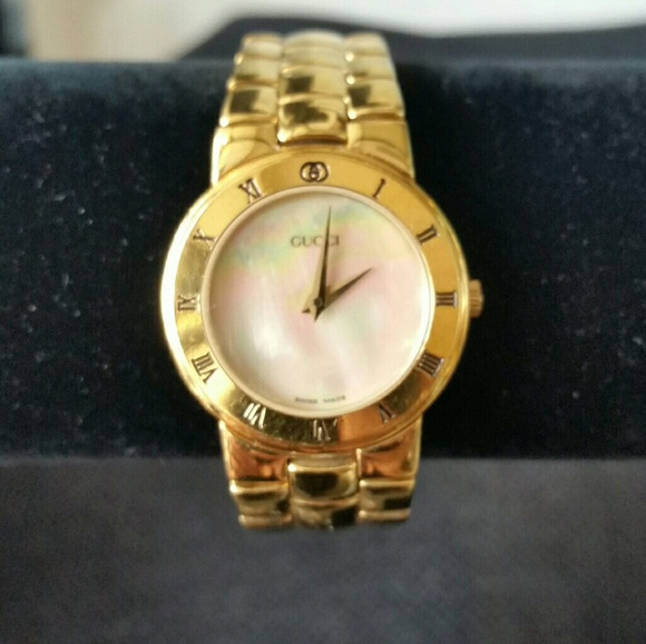 b30695e52c6 Gucci Jewelry - Vintage Gucci Mother Of Pearl Wristwatch 3300.2.